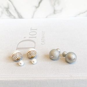Dior style earrings - 2 Pair!